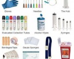 the equipment necessary to perform a venipuncture