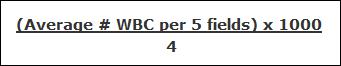 wbc count